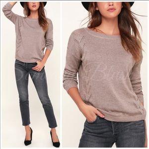 Mocha lightweight long sleeve sweater top